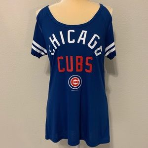 Tops - Chicago Cubs Women's Off Shoulder Spaghetti Strap